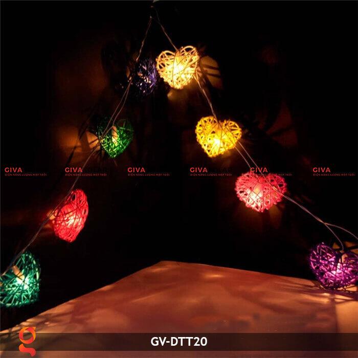 Dây đèn mây trang trí hình trái tim GV-DTT20 9