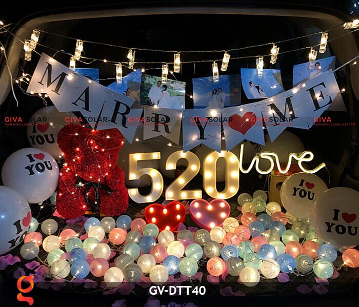 Dây đèn trang trí quả cầu GV-DTT40 18