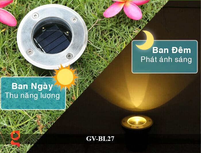 Đèn âm đất năng lượng mặt trời GV-BL27 9