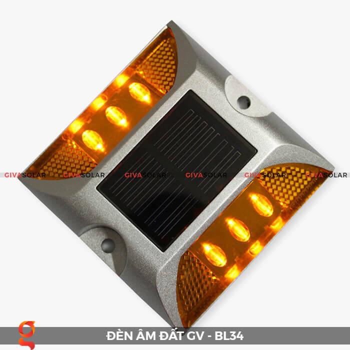 Đèn chỉ dẫn giao thông âm sàn năng lượng mặt trời GV-BL34 4