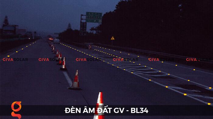 Đèn chỉ dẫn giao thông âm sàn năng lượng mặt trời GV-BL34 5