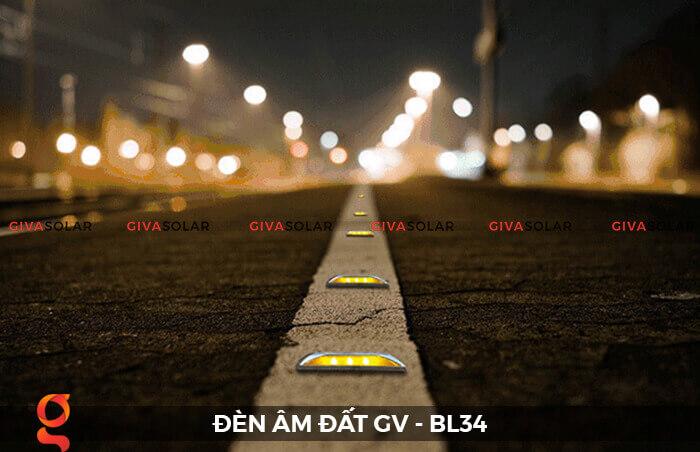 Đèn chỉ dẫn giao thông âm sàn năng lượng mặt trời GV-BL34 6