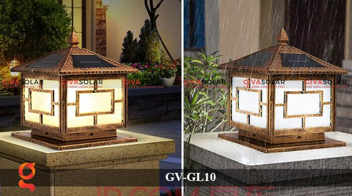 Đèn trụ cổng sử dụng năng lượng mặt trời GV-GL10 1