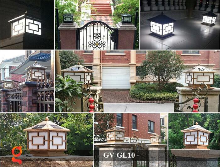 Đèn trụ cổng sử dụng năng lượng mặt trời GV-GL10 14