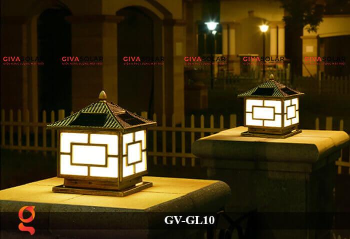 Đèn trụ cổng sử dụng năng lượng mặt trời GV-GL10 15