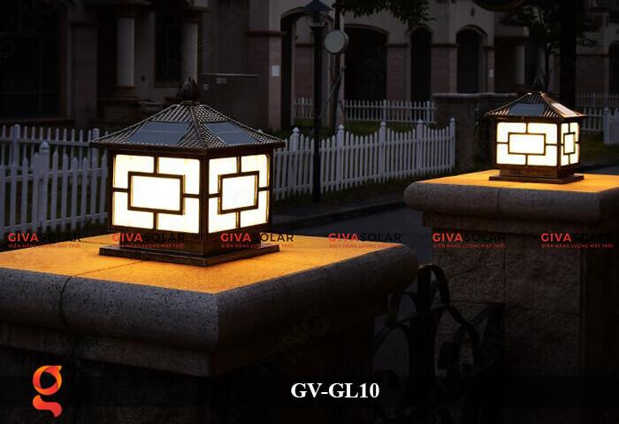 Đèn trụ cổng sử dụng năng lượng mặt trời GV-GL10 16