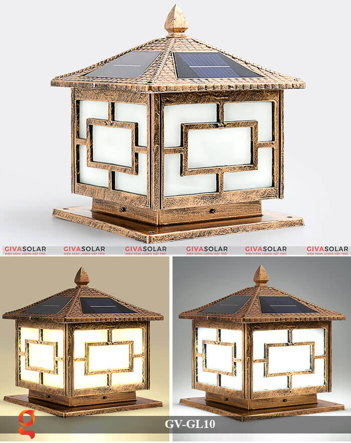 Đèn trụ cổng sử dụng năng lượng mặt trời GV-GL10 18