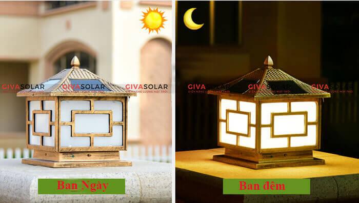 Đèn trụ cổng sử dụng năng lượng mặt trời GV-GL10 3