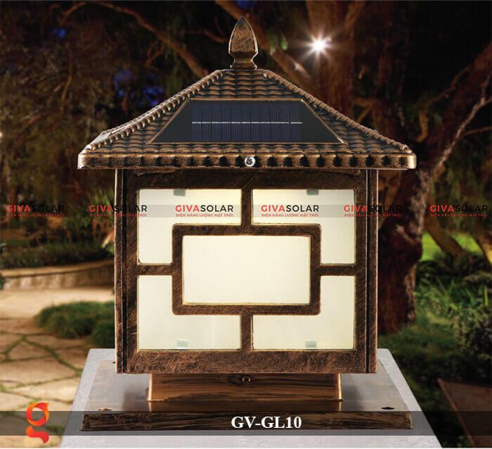 Đèn trụ cổng sử dụng năng lượng mặt trời GV-GL10 4