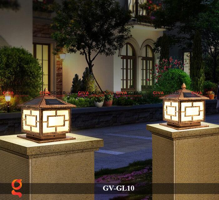 Đèn trụ cổng sử dụng năng lượng mặt trời GV-GL10 5