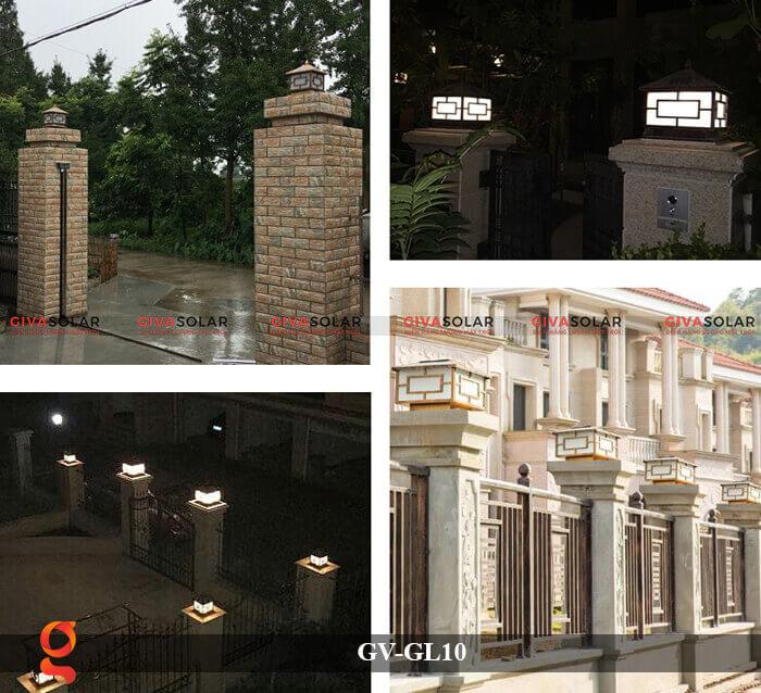 Đèn trụ cổng sử dụng năng lượng mặt trời GV-GL10 6