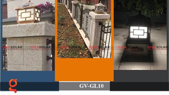 Đèn trụ cổng sử dụng năng lượng mặt trời GV-GL10 8