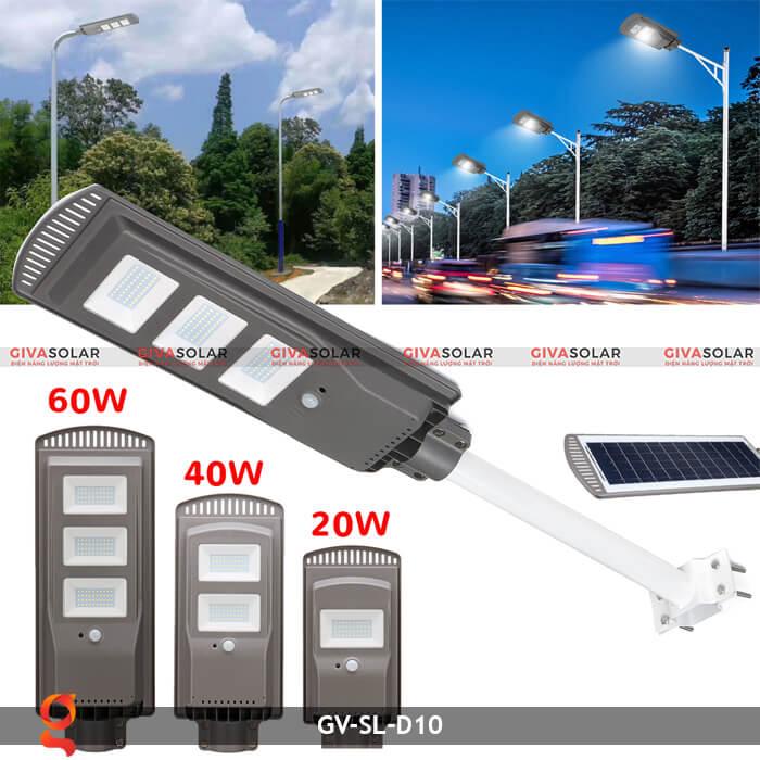 Đèn đường dùng năng lượng mặt trời GV-SL-D10 1