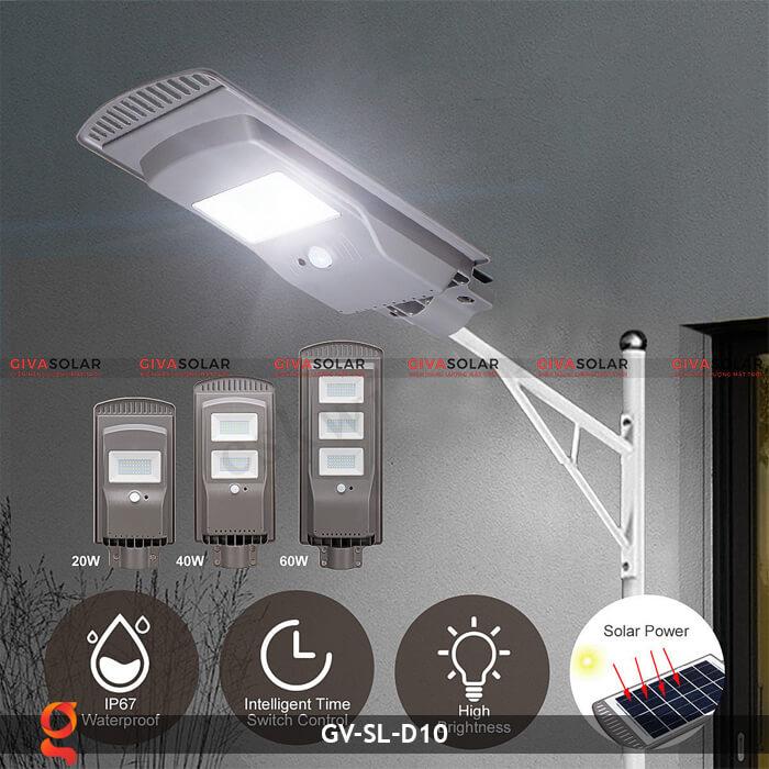 Đèn đường dùng năng lượng mặt trời GV-SL-D10 6
