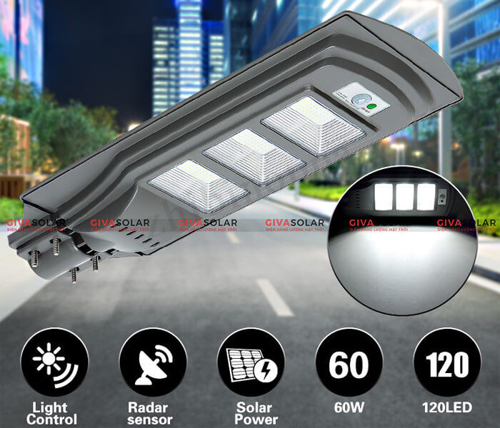 Đèn đường năng lượng mặt trời GV-SL-D9 1