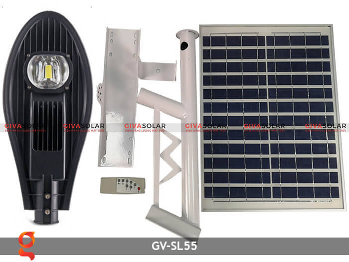 Bộ đèn đường năng lượng mặt trời nguyên set GV-SL55 1