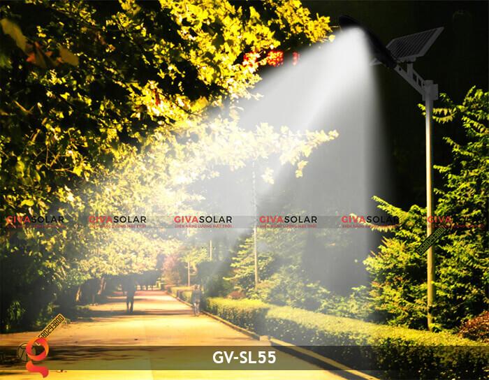 Bộ đèn đường năng lượng mặt trời nguyên set GV-SL55 10