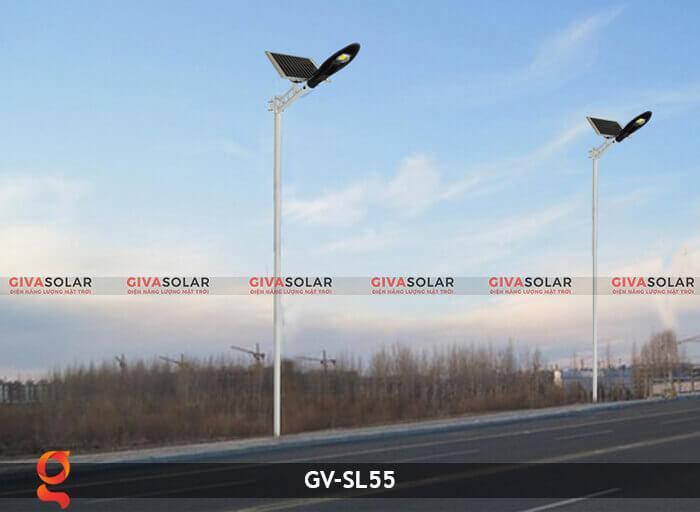 Bộ đèn đường năng lượng mặt trời nguyên set GV-SL55 11