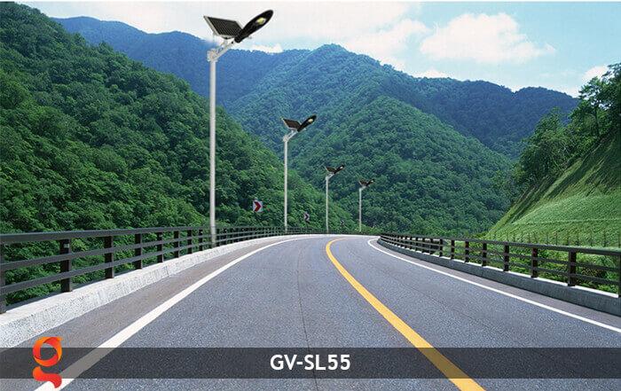 Bộ đèn đường năng lượng mặt trời nguyên set GV-SL55 13