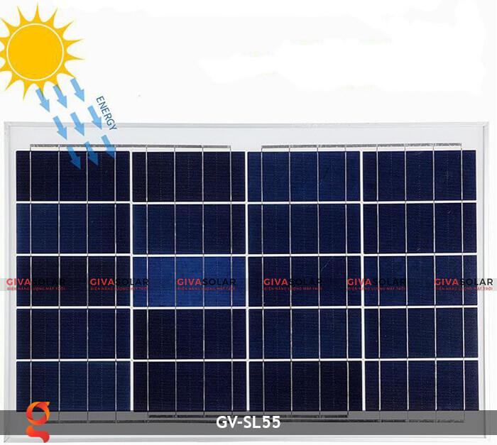 Bộ đèn đường năng lượng mặt trời nguyên set GV-SL55 14