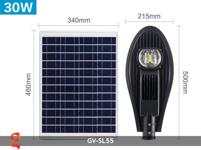 Bộ đèn đường năng lượng mặt trời nguyên set GV-SL55 2