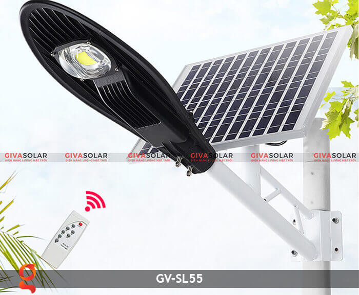 Bộ đèn đường năng lượng mặt trời nguyên set GV-SL55 4
