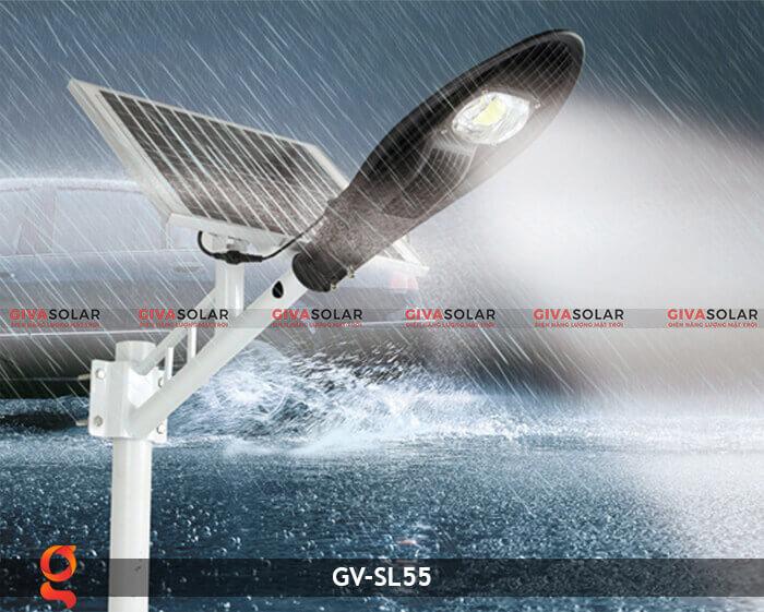 Bộ đèn đường năng lượng mặt trời nguyên set GV-SL55 5