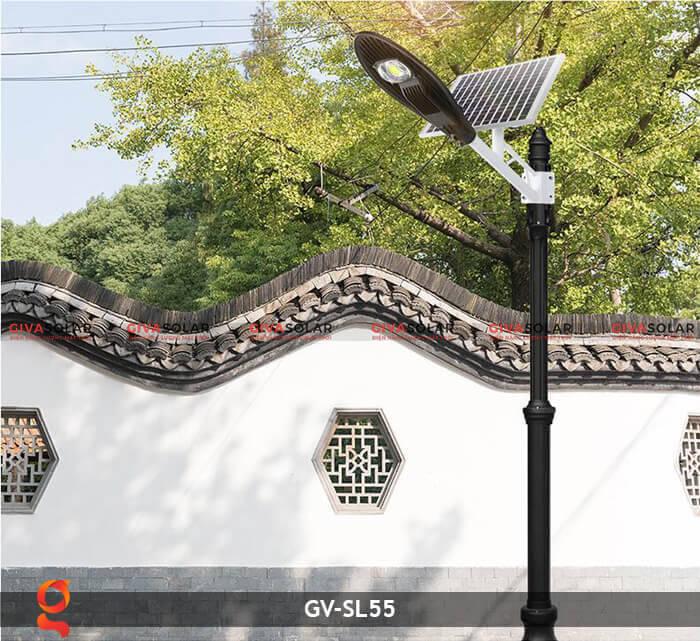 Bộ đèn đường năng lượng mặt trời nguyên set GV-SL55 7