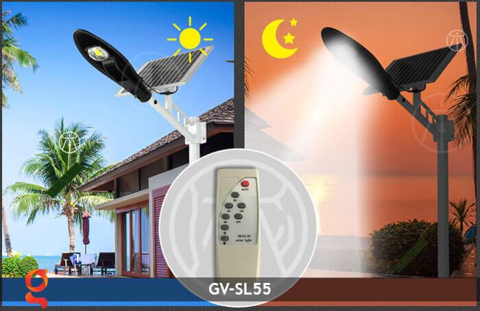 Bộ đèn đường năng lượng mặt trời nguyên set GV-SL55 8