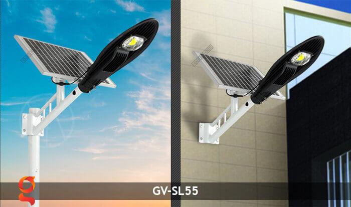 Bộ đèn đường năng lượng mặt trời nguyên set GV-SL55 9