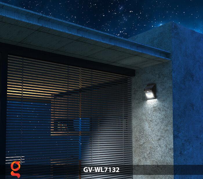 Đèn tường cảm biến năng lượng mặt trời GV-WL7132 10