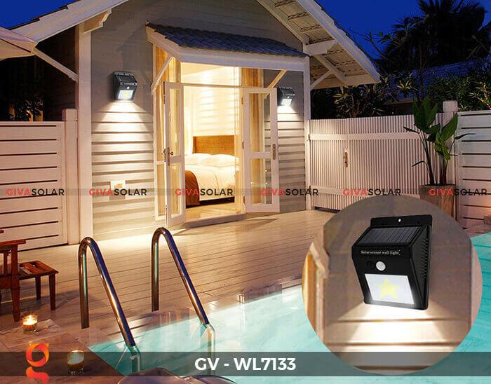 Đèn ốp tường cảm biến năng lượng mặt trời GV-WL7133 12