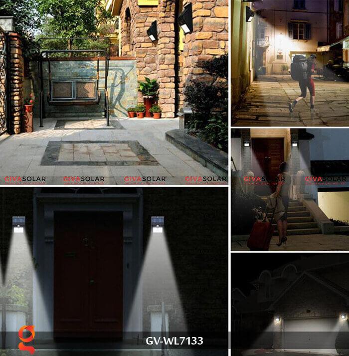 Đèn ốp tường cảm biến năng lượng mặt trời GV-WL7133 13