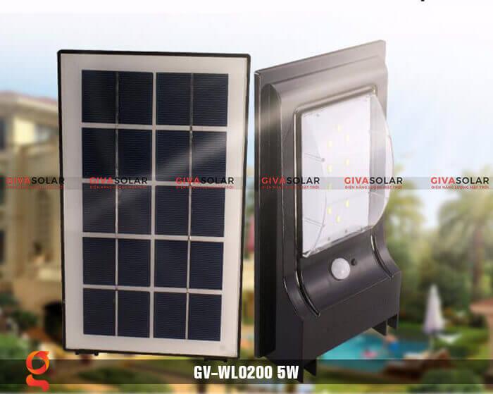Đèn ốp tường năng lượng mặt trời GV-WL0200 1