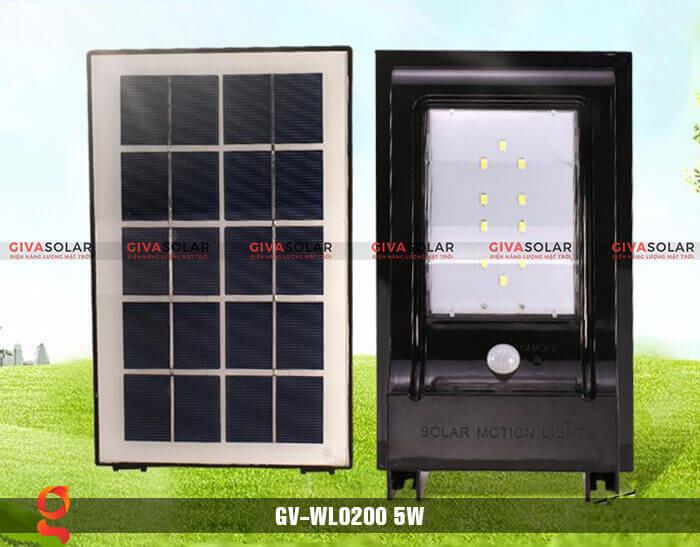 Đèn ốp tường năng lượng mặt trời GV-WL0200 4