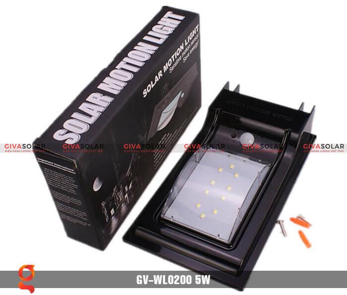 Đèn ốp tường năng lượng mặt trời GV-WL0200 5