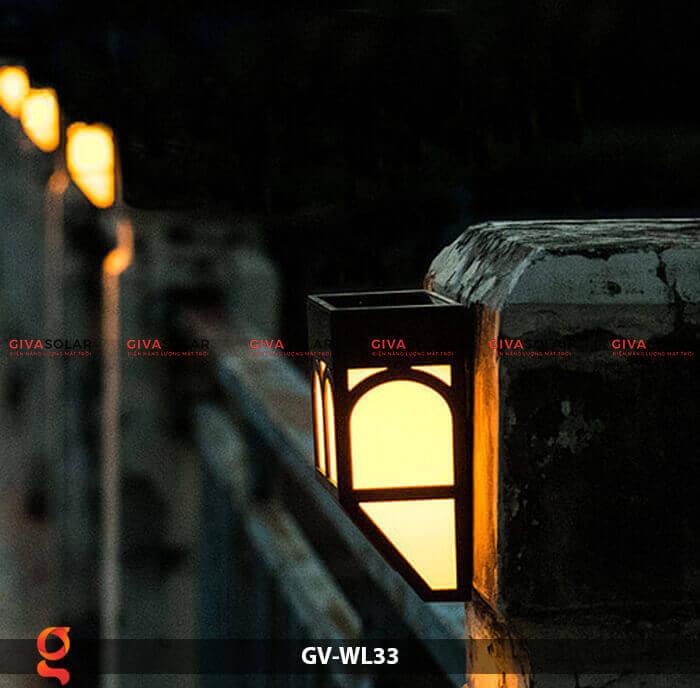 Đèn ốp tường năng lượng mặt trời GV-WL33 2