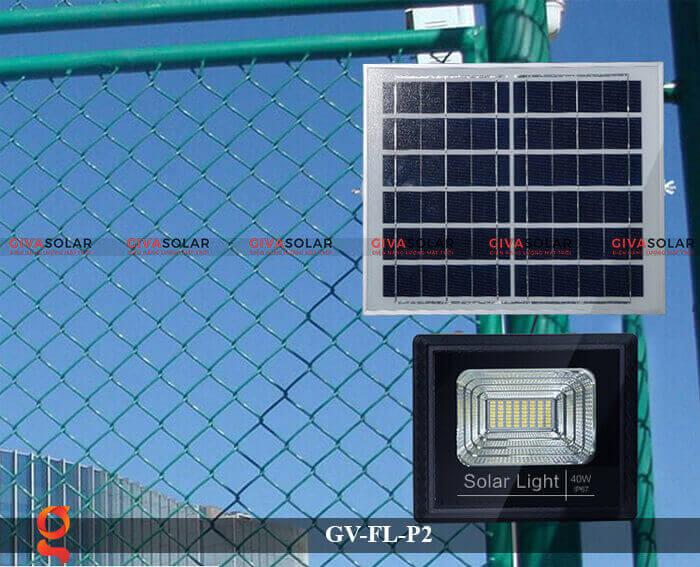 Đèn pha sử dụng năng lượng mặt trời GV-FL-P2 12