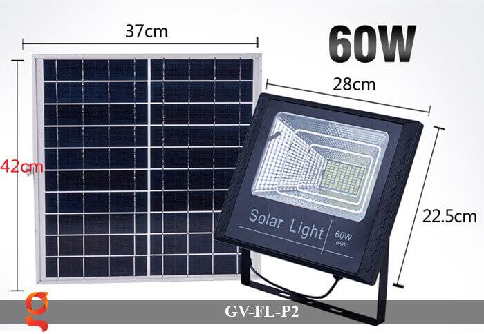 Đèn pha sử dụng năng lượng mặt trời GV-FL-P2 60w