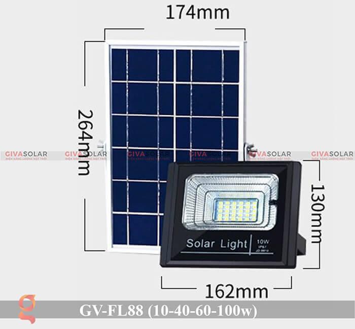 Đèn pha Led năng lượng mặt trời GV-FL88 1