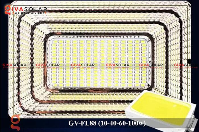 Đèn pha Led năng lượng mặt trời GV-FL88 12
