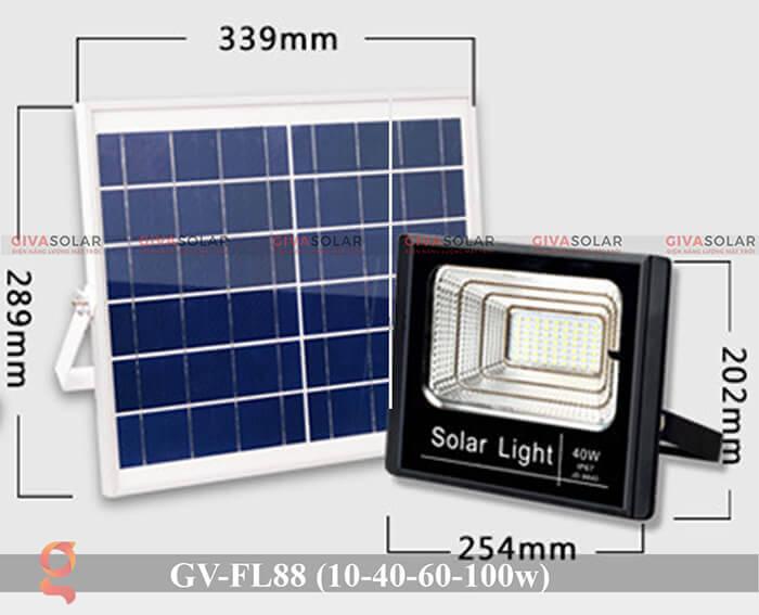 Đèn pha Led năng lượng mặt trời GV-FL88 2