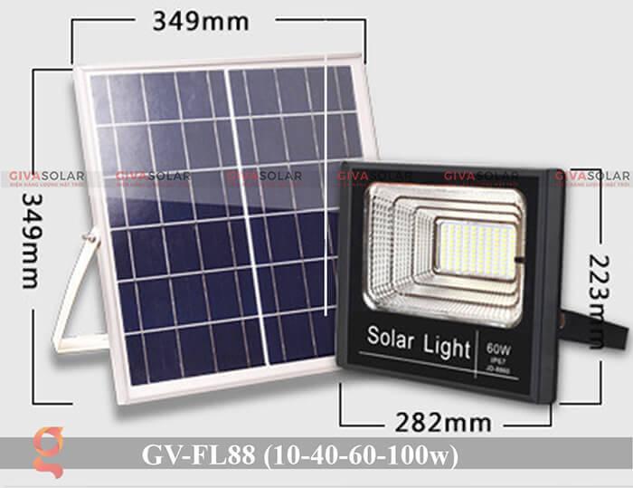 Đèn pha Led năng lượng mặt trời GV-FL88 3