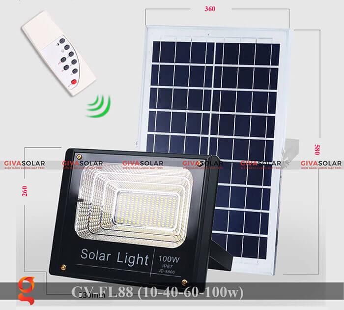 Đèn pha Led năng lượng mặt trời GV-FL88 4