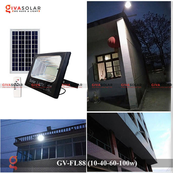 Đèn pha Led năng lượng mặt trời GV-FL88 8