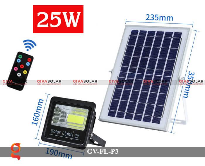 Đèn pha cảm biến năng lượng mặt trời GV-FL-P3 1