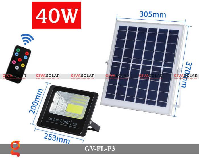 Đèn pha cảm biến năng lượng mặt trời GV-FL-P3 2