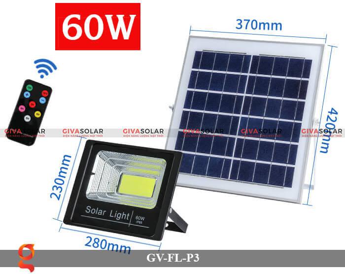 Đèn pha cảm biến năng lượng mặt trời GV-FL-P3 3