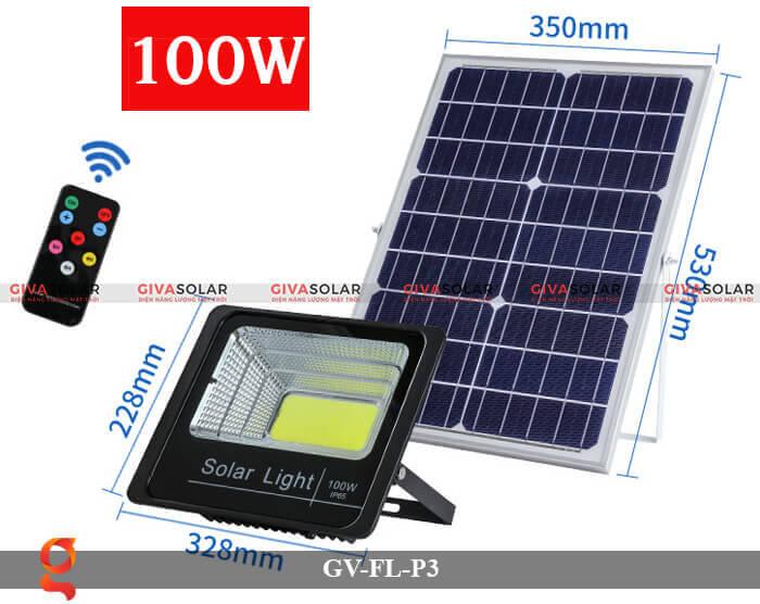 Đèn pha cảm biến năng lượng mặt trời GV-FL-P3 4