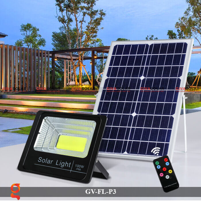 Đèn pha cảm biến năng lượng mặt trời GV-FL-P3 5